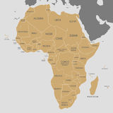 Political Africa Map vector illustration. Editable and clearly  Royalty Free Stock Photos
