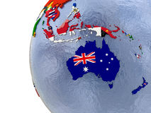 Political Australasia map Stock Photography