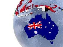 Political Australia map Stock Image