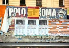 Political Billboards Stock Image