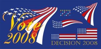 Political Bumper Sticker stock illustration