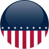 Political Button with Copy Space royalty free illustration