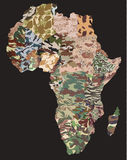 Political camouflage map. Of the Africa continent Stock Photography