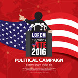 Political Campaign Banner. Royalty Free Stock Image