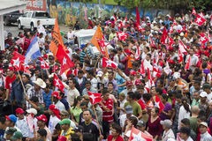 Political campaign rally of the opposition in Nicaragua Stock Image