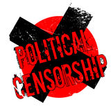 Political Censorship rubber stamp Stock Image
