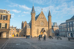 Binnenhof, political center the Netherlands stock photo
