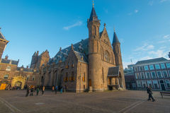 Binnenhof, political center the Netherlands stock image