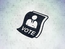Political concept: Ballot on Digital Data Paper background Royalty Free Stock Image