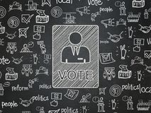 Political Concept: Ballot On School Board Background Stock Image
