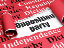 Political concept: black text Opposition Party under the piece of  torn paper Royalty Free Stock Photo