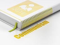 Political concept: book Ballot, Communism on white background Royalty Free Stock Photo