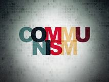 Political concept: Communism on Digital Data Paper background Royalty Free Stock Photos