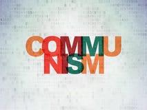 Political concept: Communism on Digital Data Paper background. Political concept: Painted multicolor text Communism on Digital Data Paper background Stock Photos