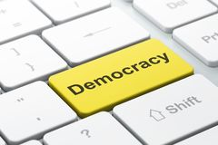Political Concept: Democracy On Computer Keyboard Background Royalty Free Stock Image