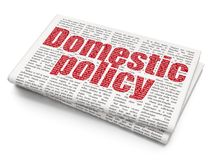 Political concept: Domestic Policy on Newspaper background Royalty Free Stock Photo