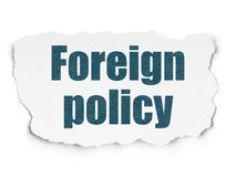Political concept: Foreign Policy on Torn Paper background Stock Photo