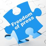 Political concept: Freedom Of Press on puzzle background Stock Photo