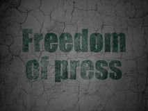 Political concept: Freedom Of Press on grunge wall background Stock Photography