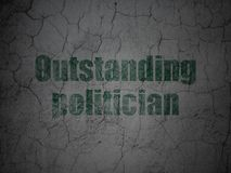 Political concept: Outstanding Politician on grunge wall background Royalty Free Stock Photography