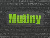 Political concept: Mutiny on wall background Stock Images