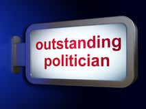 Political concept: Outstanding Politician on billboard background Stock Image