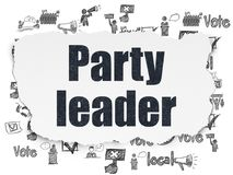 Political concept: Party Leader on Torn Paper background Stock Photo