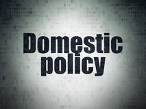 Political concept: Domestic Policy on Digital Data Paper background. Political concept: Painted black word Domestic Policy on Digital Data Paper background Royalty Free Stock Photography