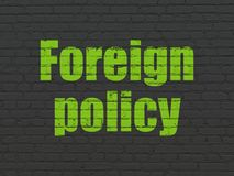 Political concept: Foreign Policy on wall background Stock Photography