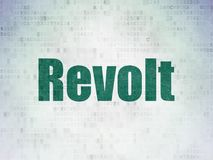 Political concept: Revolt on Digital Data Paper background. Political concept: Painted green word Revolt on Digital Data Paper background Stock Image