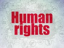 Political concept: Human Rights on Digital Data Paper background Stock Images