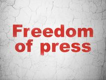 Political concept: Freedom Of Press on wall background Stock Image
