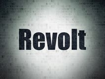 Political concept: Revolt on Digital Data Paper background. Political concept: Painted black word Revolt on Digital Data Paper background stock illustration