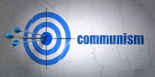 Political concept: target and Communism on wall background Stock Images