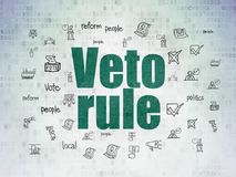 Political concept: Veto Rule on Digital Data Paper background Royalty Free Stock Photo
