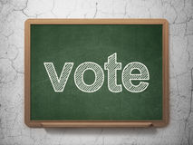 Political concept: Vote on chalkboard background Stock Photography