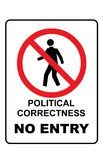 Political correctness no entry sign. On a white background royalty free illustration