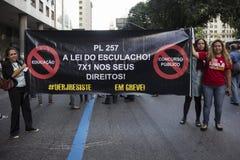 Political crisis in Brazil Royalty Free Stock Photos