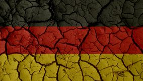 Political Crisis Concept: Mud Cracks With Germany Flag stock photos