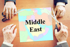 Political crisis in Middle East region Stock Image