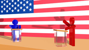 Political debate in USA Royalty Free Stock Photo