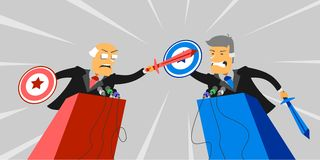 Political debate. In the voting royalty free illustration