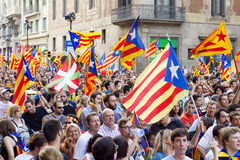 Political demonstration in Barcelona Stock Image
