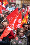 Political demonstration in France stock photography