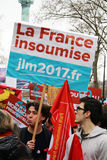Political demonstration in France Stock Photos