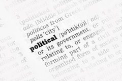 Political  Dictionary Definition Stock Photo