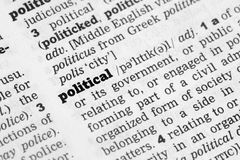 Political  Dictionary Definition Stock Image