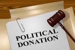 Political Donation concept Stock Images