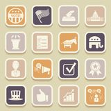 Political election campaign universal icons Royalty Free Stock Photography