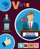 Political Election Debates 2016 Banner Royalty Free Stock Photography